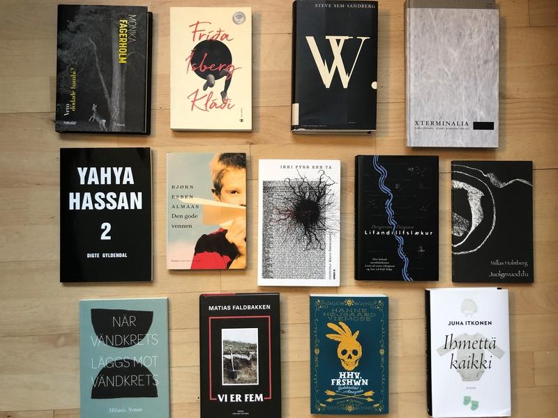 Böcker som nominerats till Nordiska rådets litteraturpris 2020 (Fotografi: norden.org)