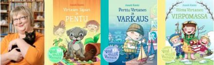 Anneli Kanto, Virtasen lapset ja pentu, Perttu Virtanen ja varkaus, Vilma Virtanen virpomassa - kuvat