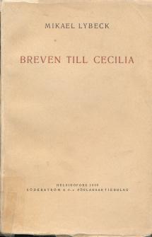 Breven till Cecilia omslag