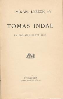 Tomas Indal omslag